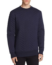 Sovereign Code Colin Quilted Sweatshirt Navy