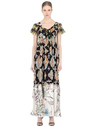 Maurizio Pecoraro Printed Silk Dress