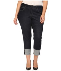 Jag Jeans Plus Size Evan Long Cuff Slim Ankle In Rinse Capital Denim Rinse Women's Navy