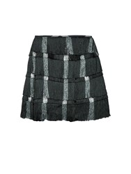 Marco De Vincenzo Tiered Fringed Mini Skirt