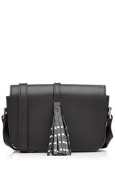 Steffen Schraut Leather Shoulder Bag With Embellished Tassel Black