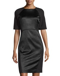 Lafayette 148 New York Faryn Faux Leather Dress Black