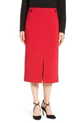 Ellen Tracy Women's Front Slit Midi Skirt