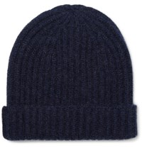 Steven Alan Ribbed Cashmere Beanie Navy
