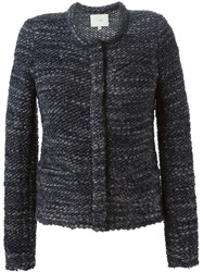 Iro Boucle Knit Cardigan Blue