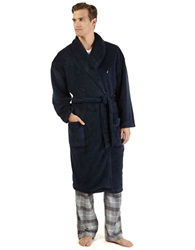 Nautica Plush Shawl Collar Robe Navy