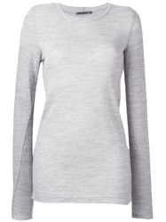 Transit Round Neck Semi Sheer Jumper Grey