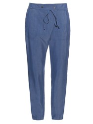 Vince Draped Front Chambray Trousers
