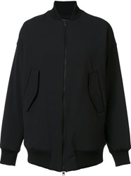 Y's Oversized Bomber Jacket Black