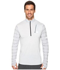 New Balance Performance Merino Half Zip Top Athletic Grey Men's Long Sleeve Pullover Gray