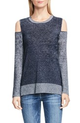 Vince Camuto Women's Two By Plaited Rib Cold Shoulder Sweater