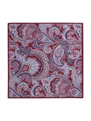 Paul Costelloe Portland Paisley Wool Pocket Square Wine