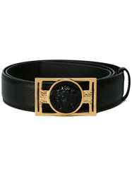 Versace Medusa Plaque Belt Black