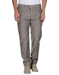 Armani Collezioni Trousers Casual Trousers Men Grey