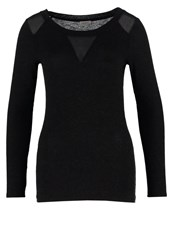 Naf Naf Long Sleeved Top After Black