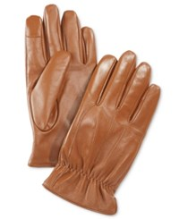 Ryan Seacrest Distinction Men's Leather Gloves Only At Macy's Tan