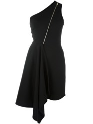 Stella Mccartney Zipped Asymmetrical Dress Black