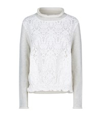 See By Chloe Lace Front Sweater Female Light Grey