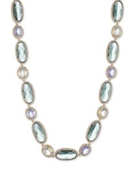 Jenny Packham Cubic Zirconia And Multicolored Crystal Necklace Green