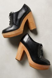 Anthropologie Cubanas Platform Oxford Heels Black 41 Euro Heels