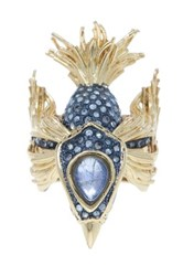 Alexis Bittar Elements Labradorite Doublet Bird Ring Size 6 Metallic