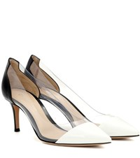 Gianvito Rossi Exclusive To Mytheresa.Com Plexi 70 Leather And Transparent Pumps Black