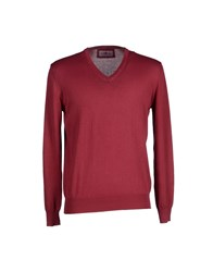 Della Ciana Knitwear Jumpers Men Garnet