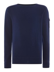 Duck And Cover Swanley 2 Crew Neck Knitwear French Navy