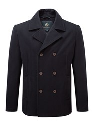 Henri Lloyd Men's Harling Melton Pea Coat Navy