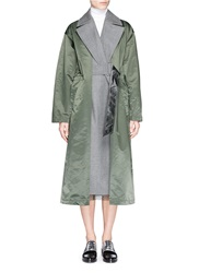 Toga Archives Wool Insert Nylon Trench Coat Green