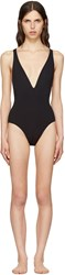 Proenza Schouler Black Cross Back Swimsuit