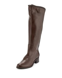 Sesto Meucci Nattie Braided Leather Knee Boot Brown