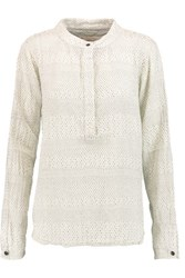 Current Elliott The Annabelle Printed Cotton Blouse Ivory