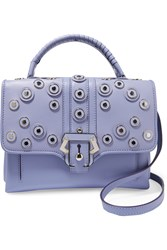 Paula Cademartori Faye Studded Leather Tote Purple