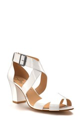 Shoes Of Prey Women's Block Heel Sandal White Patent