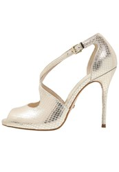 Buffalo High Heeled Sandals Ouro Gold