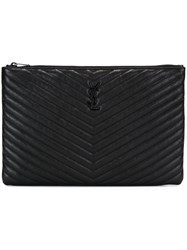 Saint Laurent 'Monogram' Pouch Black