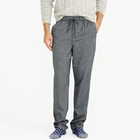 J.Crew Flannel Pajama Pant In Grey Herringbone