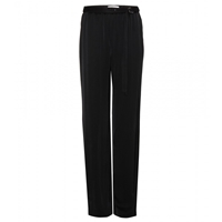 Dorothee Schumacher Relaxed Satin Trousers Pure Black