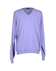 Mamartony Knitwear Jumpers Men Light Purple