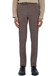 Gucci Slim Tiled Jacquard Pants Red