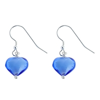 Martick Murano Glass Earrings Blue
