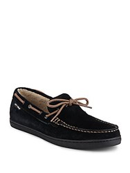 Cole Haan Nantucket Faux Fur Lined Suede Loafers Black