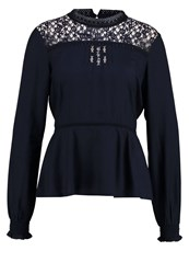 Cream Lori Blouse Captail Navy Blue