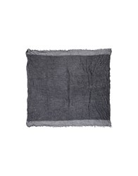 Atos Lombardini Square Scarves Steel Grey