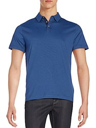 Robert Barakett Blair Pima Cotton Polo Shirt Geneva Blue