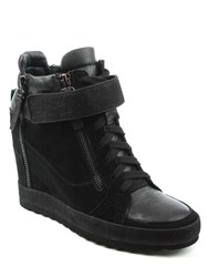 Daniel Pearla Glitter High Top Wedges Black