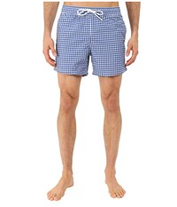 Lacoste Taffeta Gingham Swim Short 5 Delta Blue White Men's Swimwear
