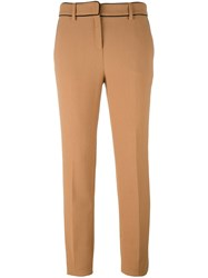 Fausto Puglisi Straight Trousers Nude And Neutrals