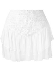 Jay Ahr Tiered Mini Skirt White